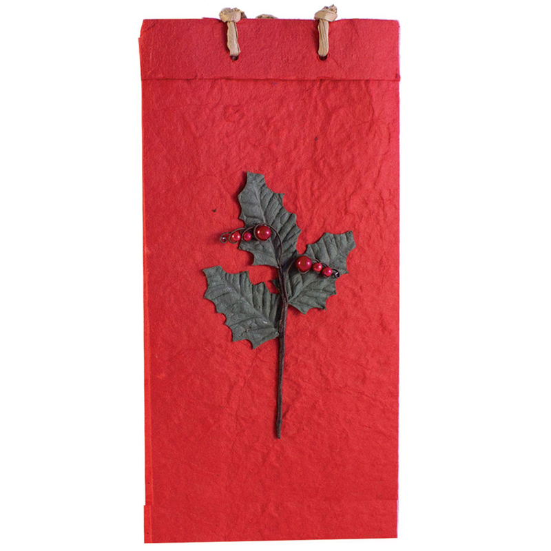 christmas paper wine bags