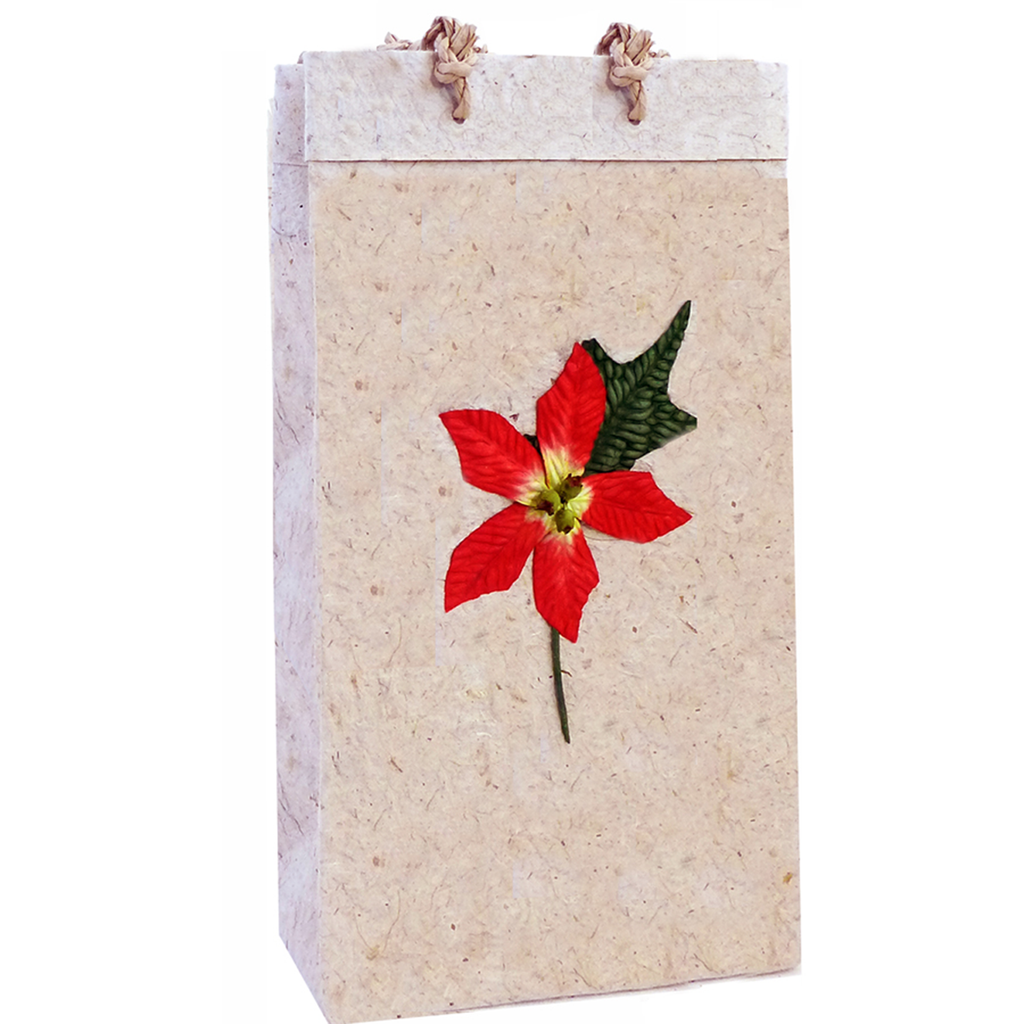 Holiday flower wine bags