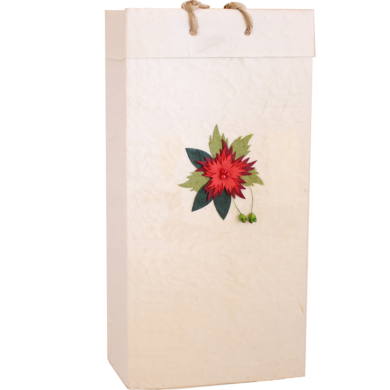 3d flower wine bag