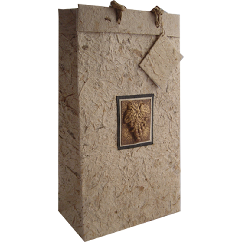 embossed bottle wine bags