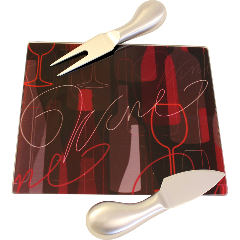 chic servery tray 2 stainless steel utensils
