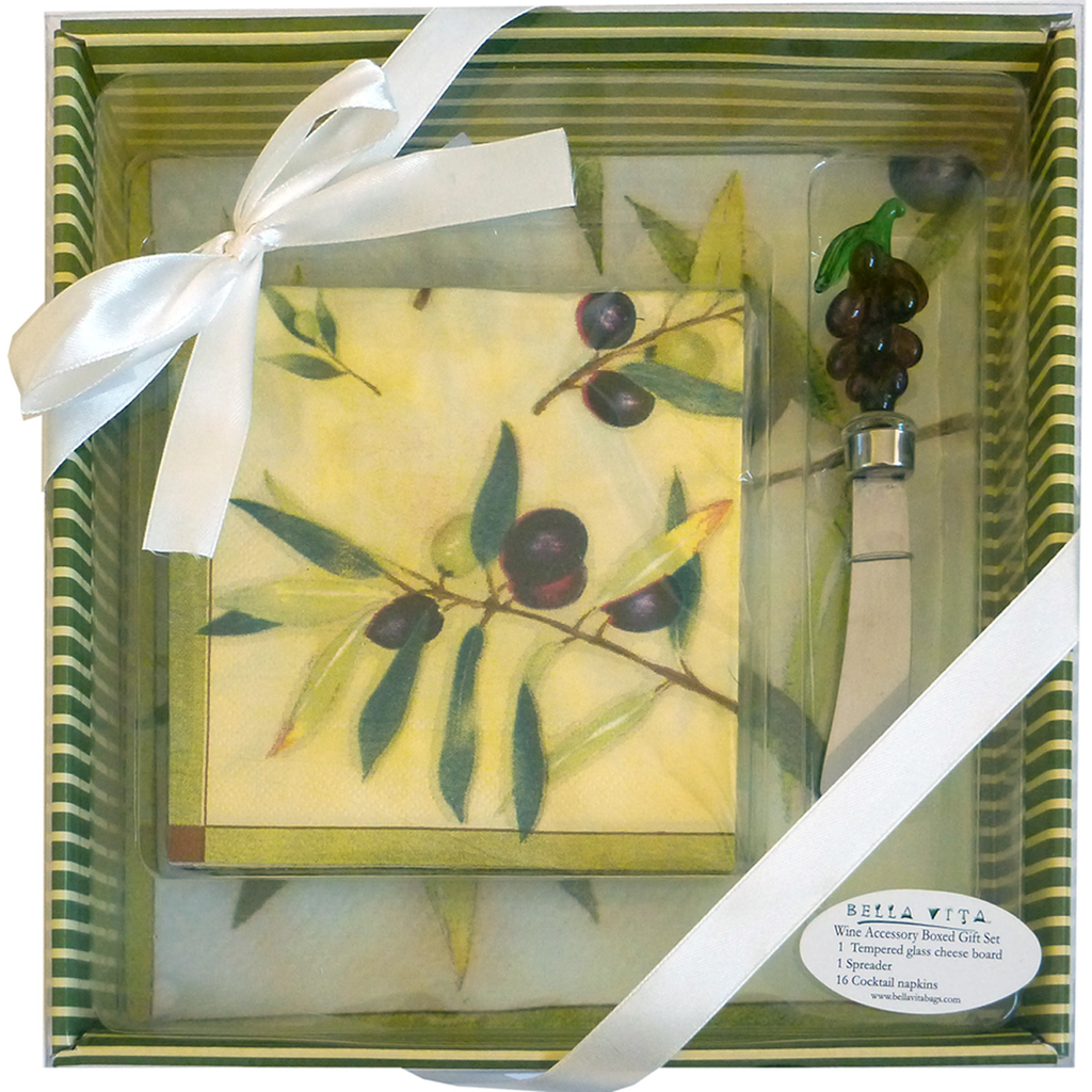 cheese  wine olive gift boxed serving