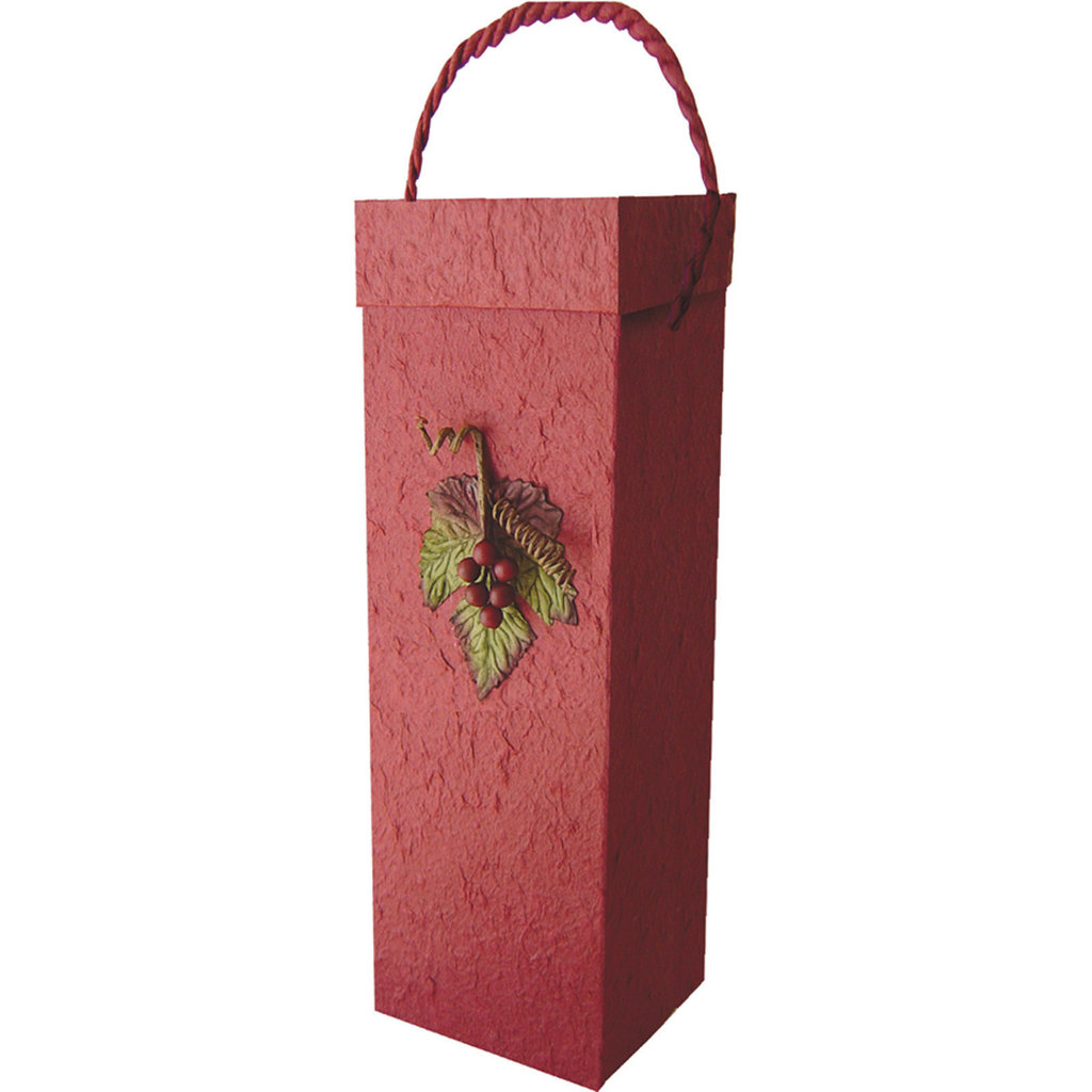 3d burgundy grape cluster wine bottle box