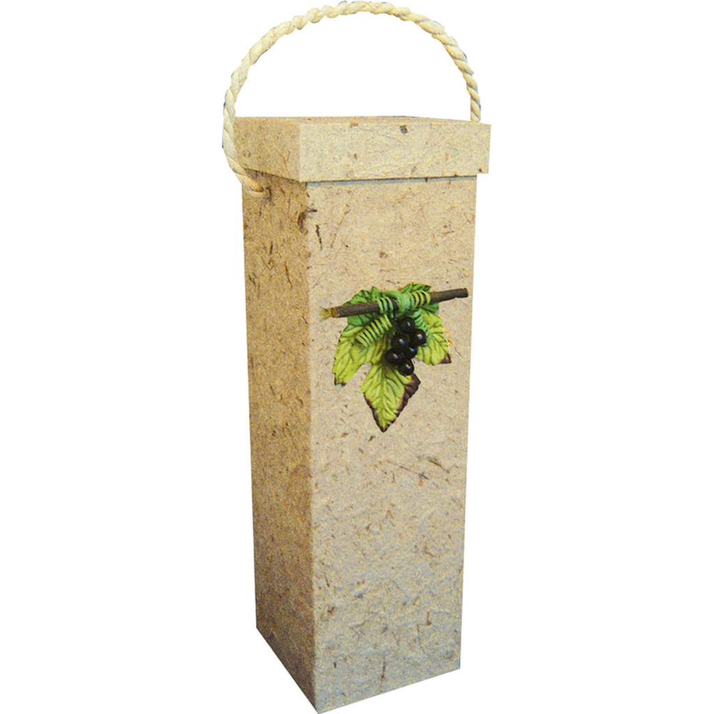 3d natural grape leaf wine bottle box