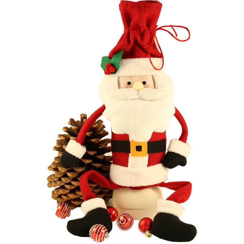holiday sitting santa bottle topper