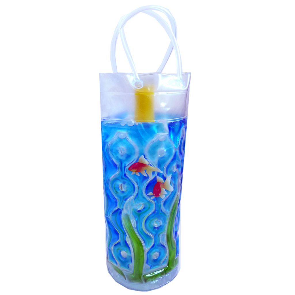 chill it 1c freezable aquarium cylinder drink bottle bag
