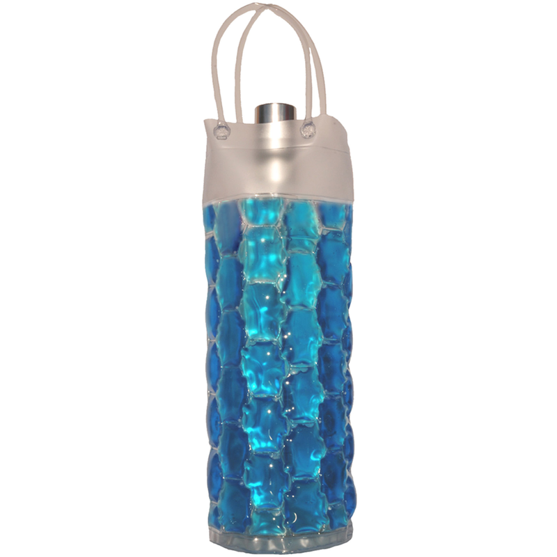 chill it 1c freezable blue cylinder drink bottle bag