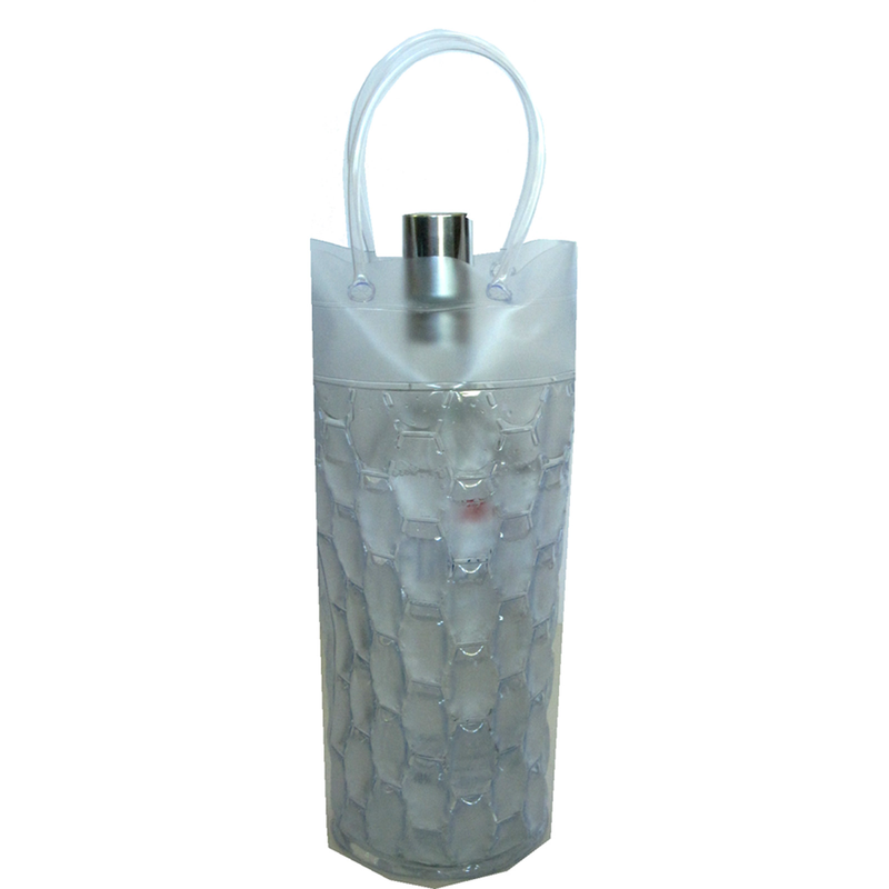 chill it 1c freezable clear cylinder drink bottle bag