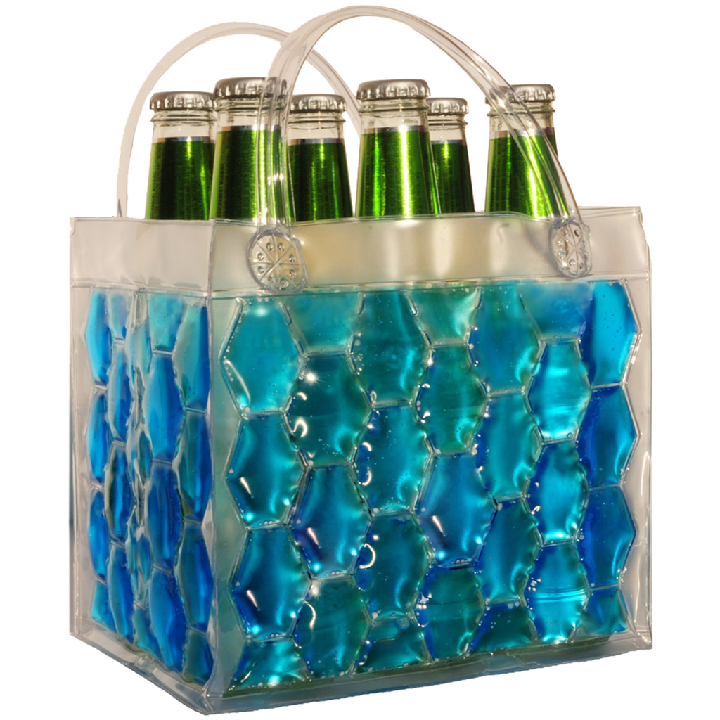 chill it freezable blue six pdrink bottle bag