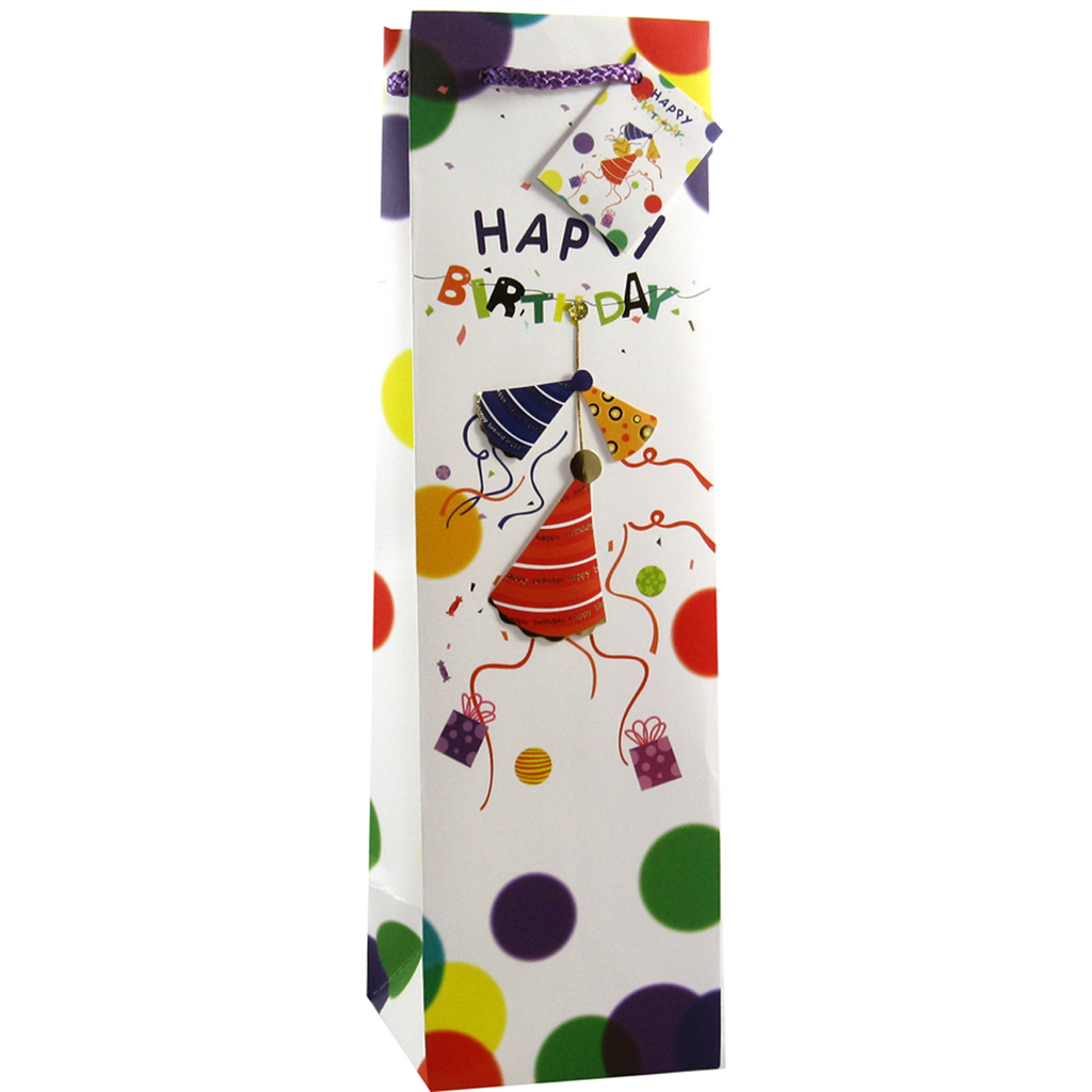 decorative paper 3d party hats wine bottle bag