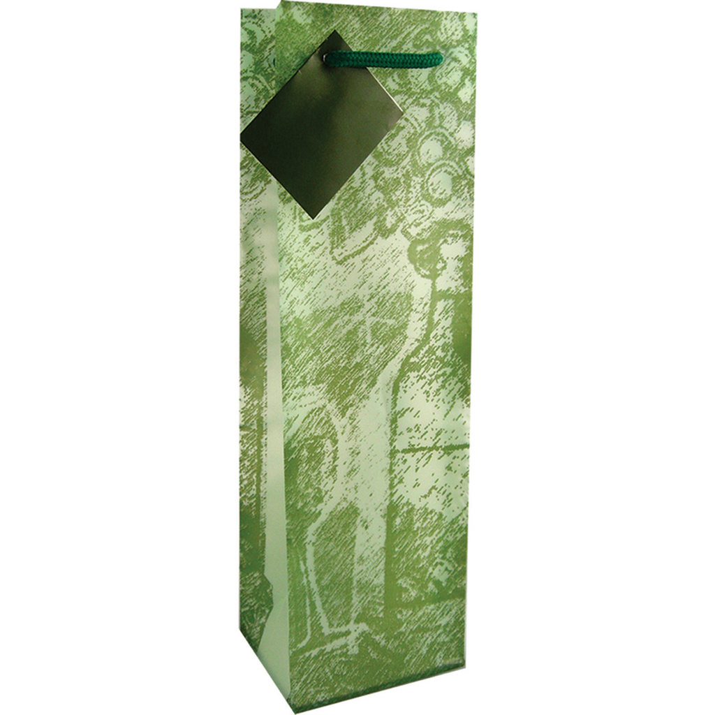frosted chateau olive wine bottle bag