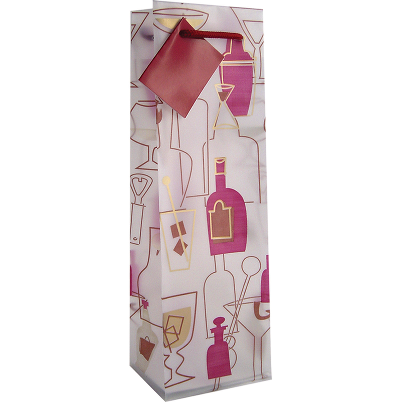frosted cocktails wine bottle bag