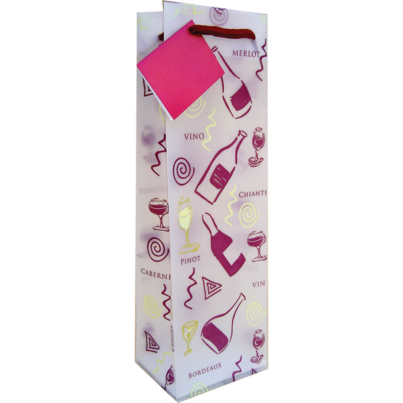 frosted party wine bottle bag