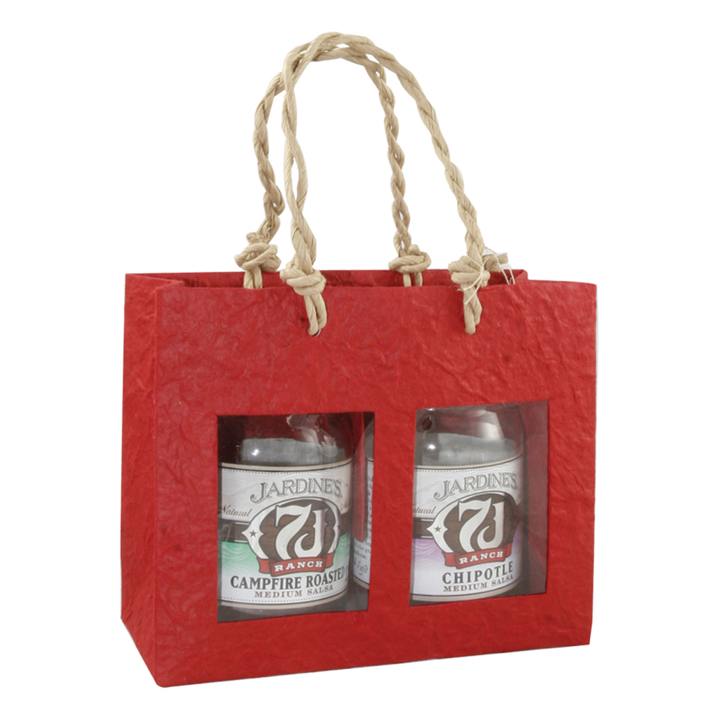 red window double gourmet food bag