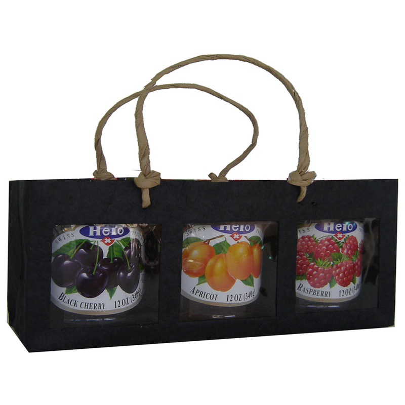 black window tripple gourmet food bag