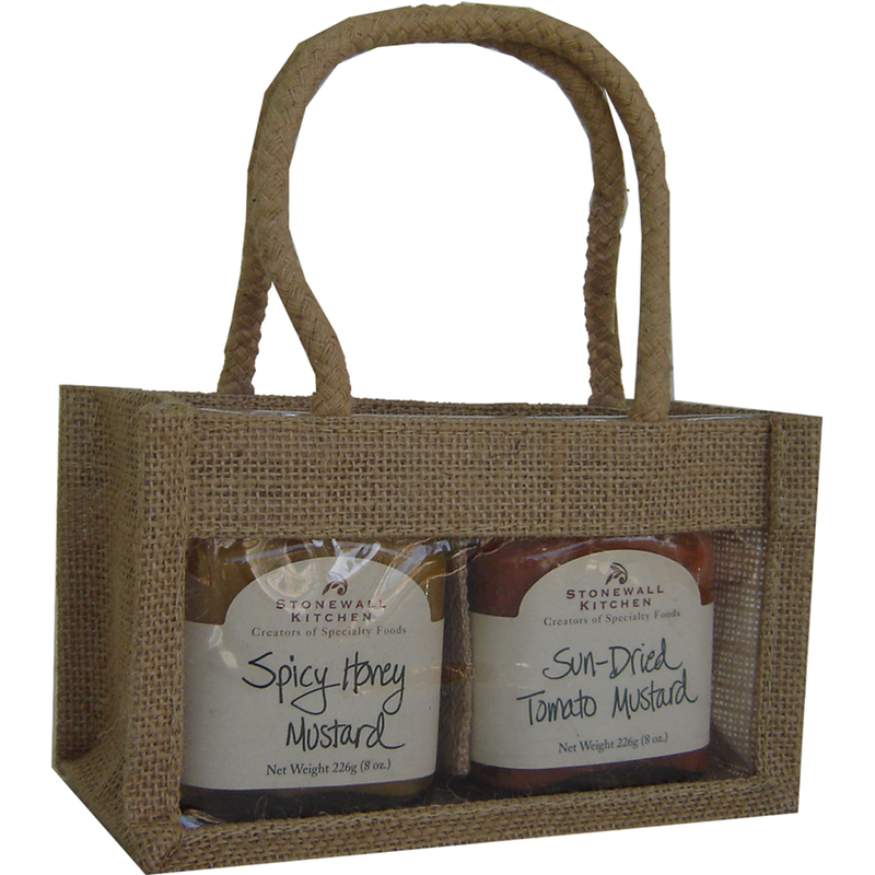 jute natural double gourmet food bag