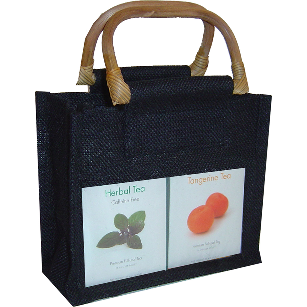 jute bamboo black double gourmet food bag