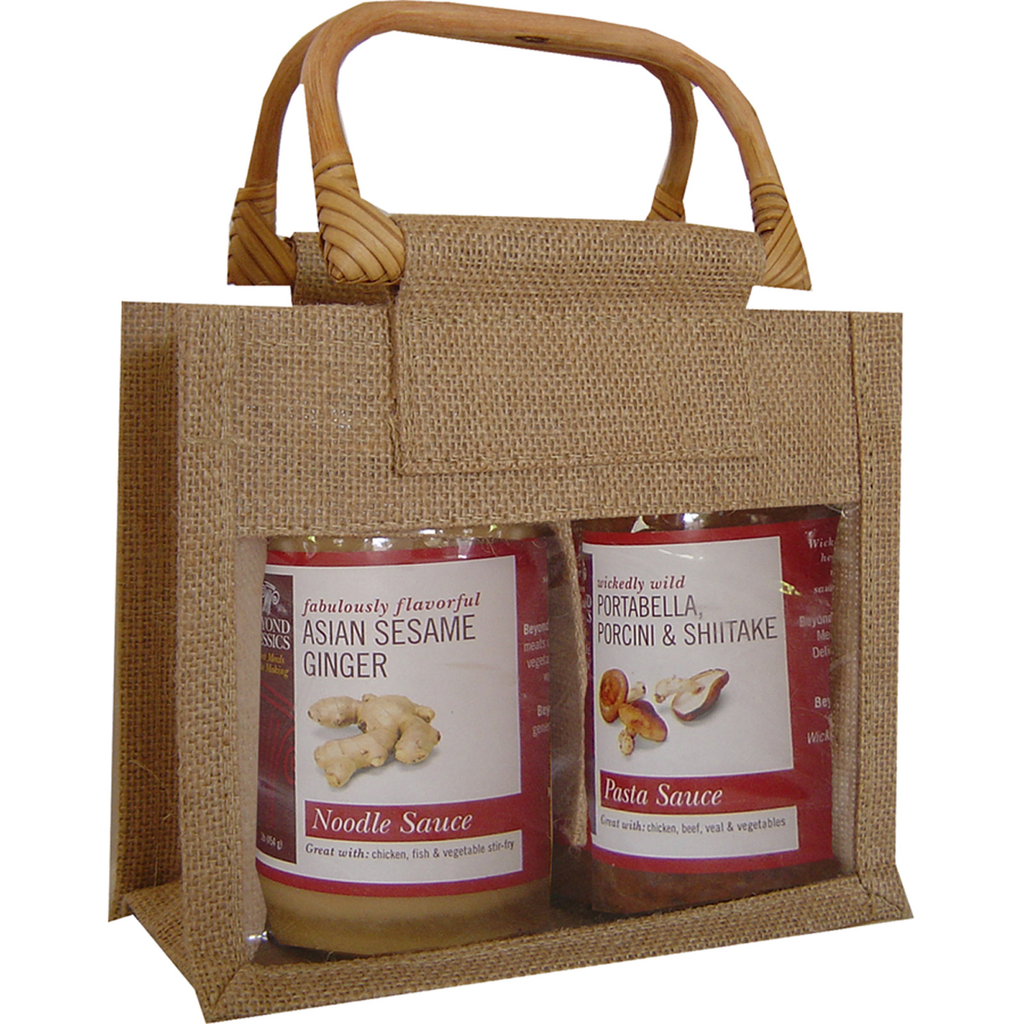 jute bamboo natural double gourmet food bag