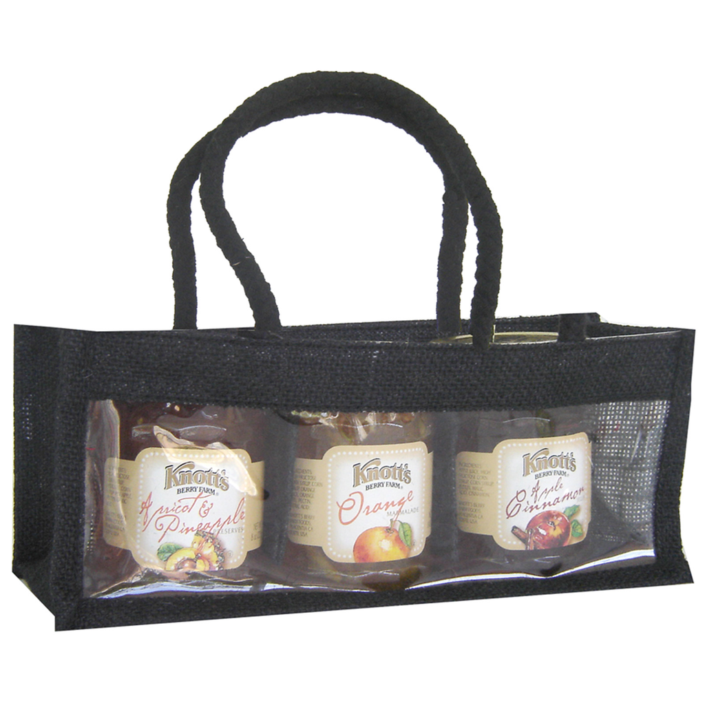 jute black tripple gourmet food bag