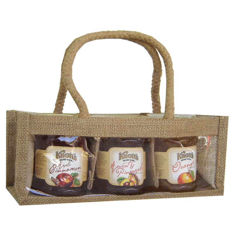 jute natural tripple gourmet food bag