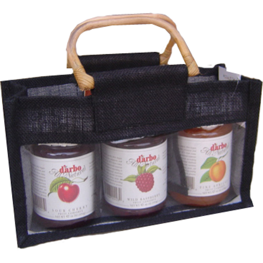 jute bamboo black tripple gourmet food bag