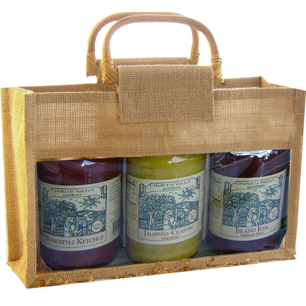 jute bamboo natural tripple gourmet food bag