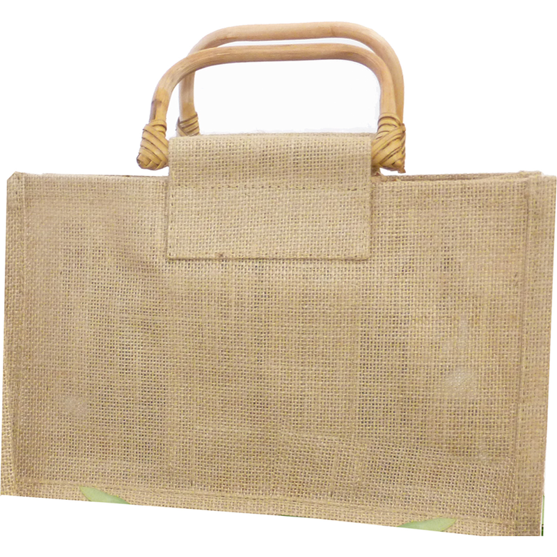 jute bamboo natural gourmet gift bag