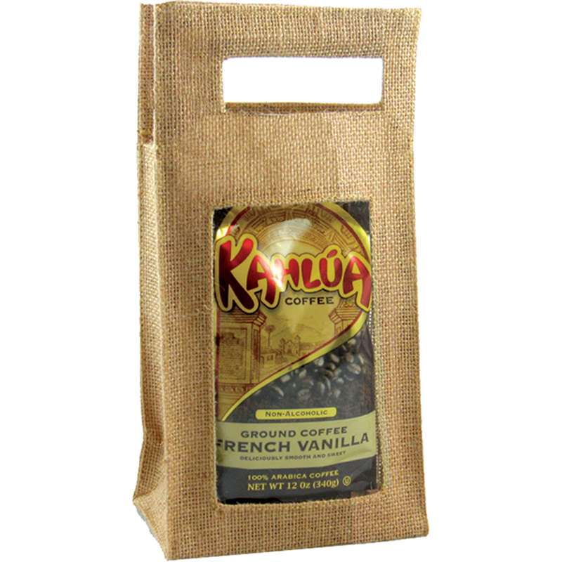 jute natural window coffee  tea gourmet food bag