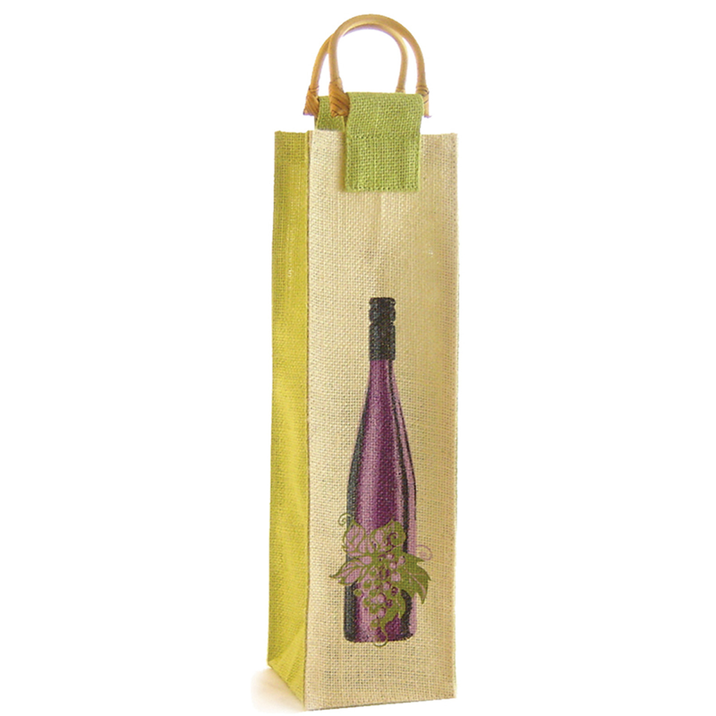 jute bamboo wine  vine bottle bag