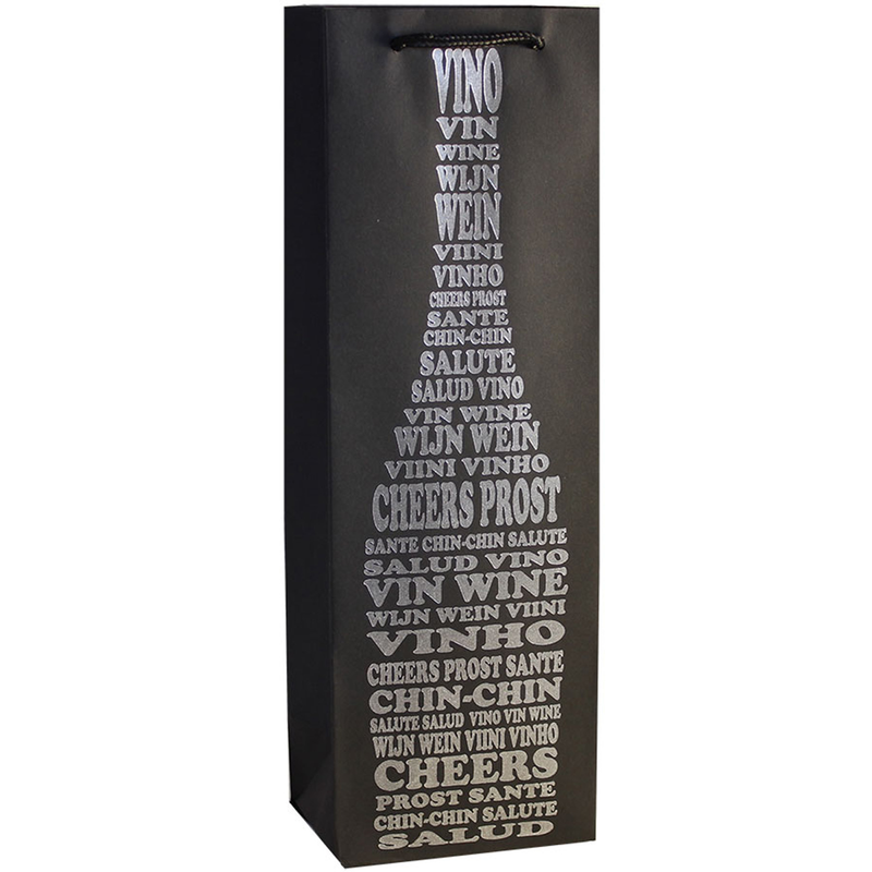 kraft paper foil blcheers wine bottle bag