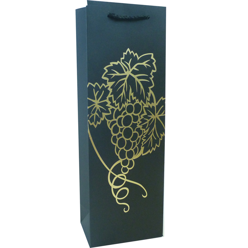 kraft paper foil blgrape wine bottle bag