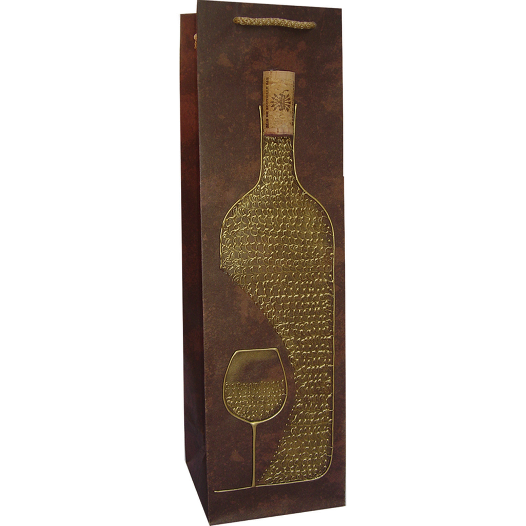 hand painted vgold wine  cork wine bag