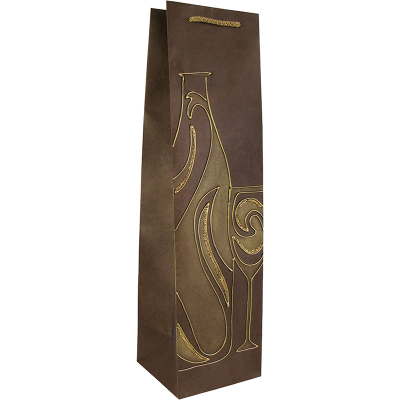 hand painted wine swirls wine bag