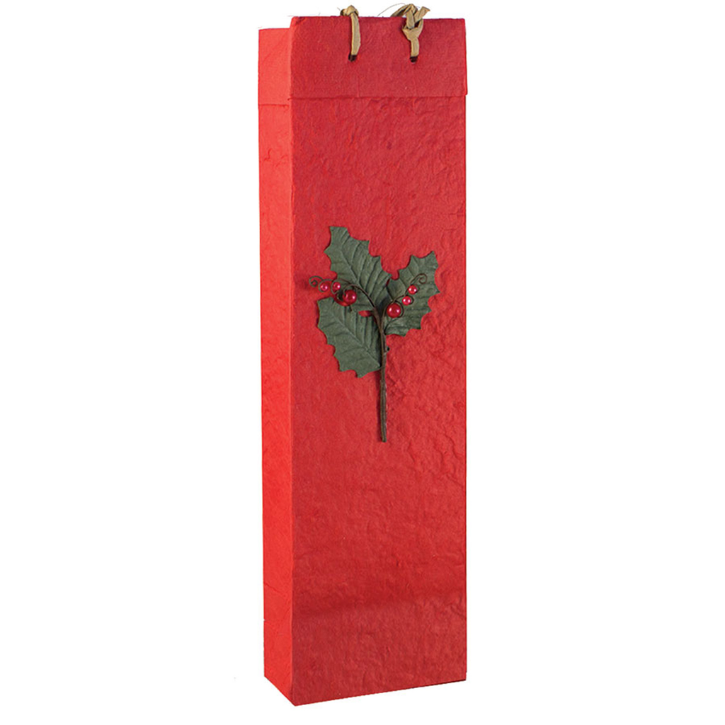 holiday holly gourmet olive oil bag