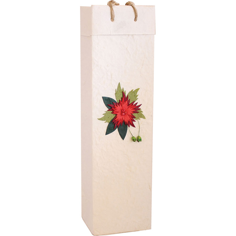 red flower gourmet olive oil bag