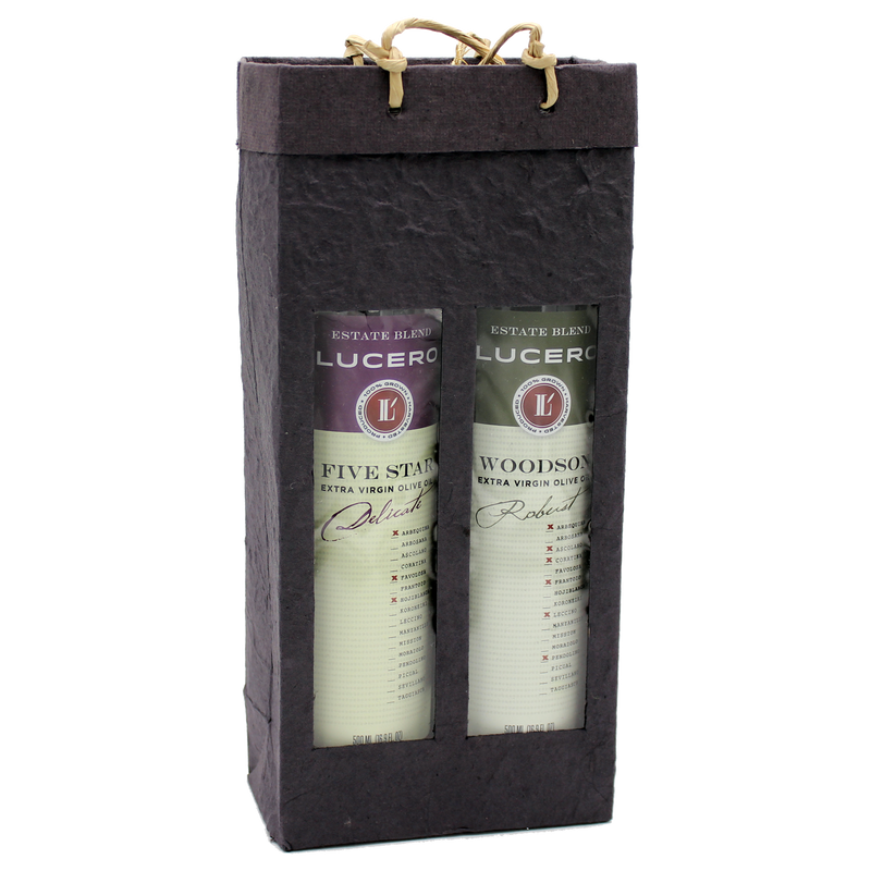 black  gourmet olive oil double bottle bag