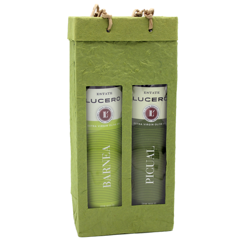 green  gourmet double bottle olive oil bag