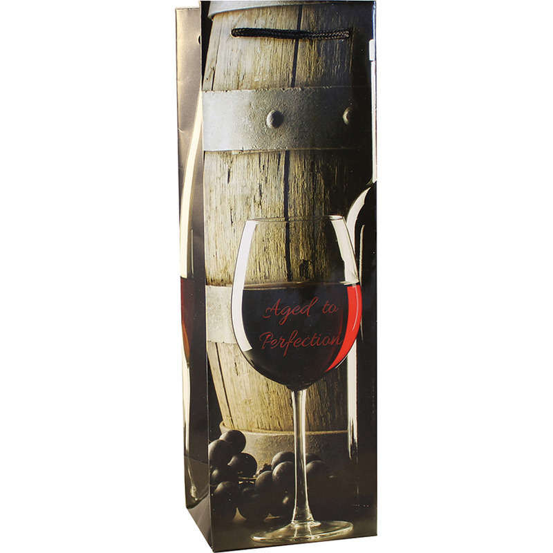 aged to perfection wine bottle bag