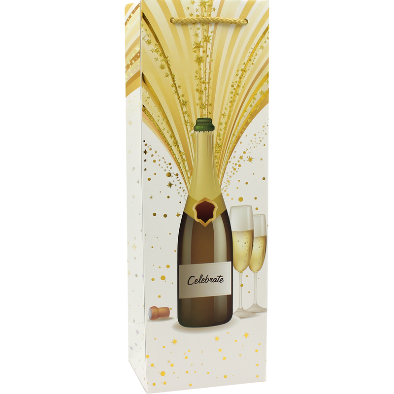 printed paper champagne wine bag