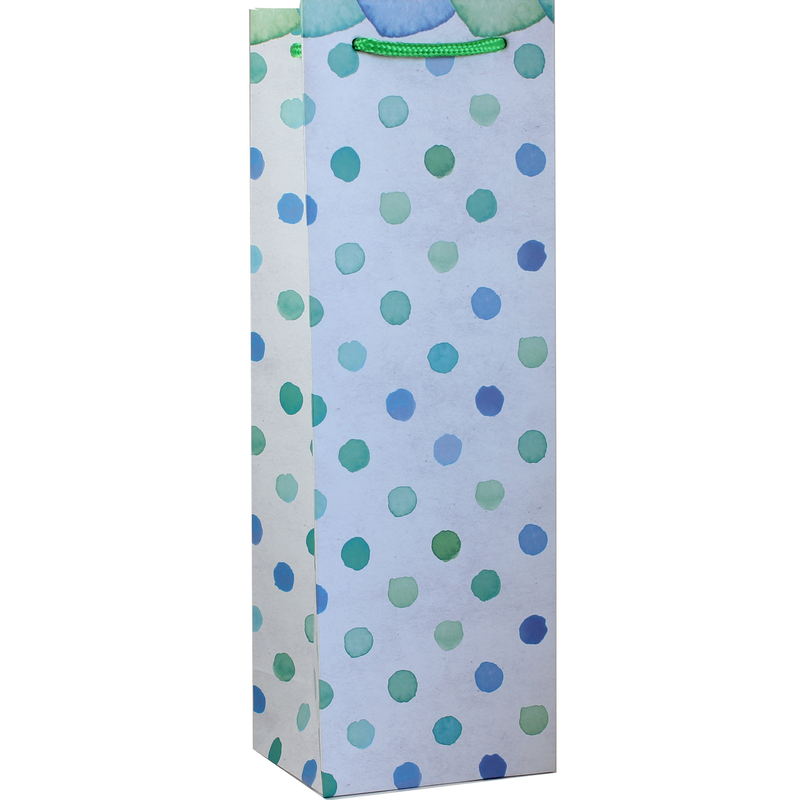 printed paper dots wine bottle bag