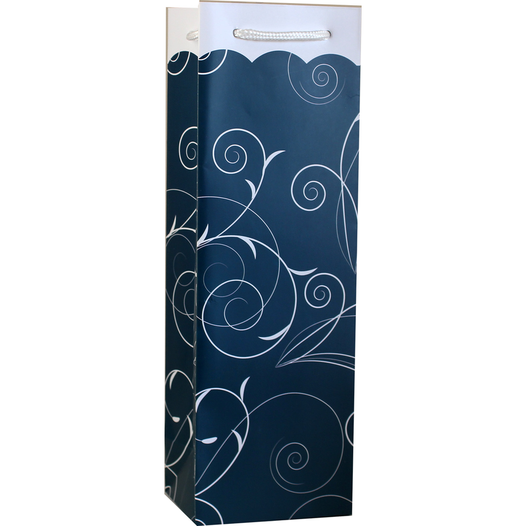 printed paper elegance wine bottle bag