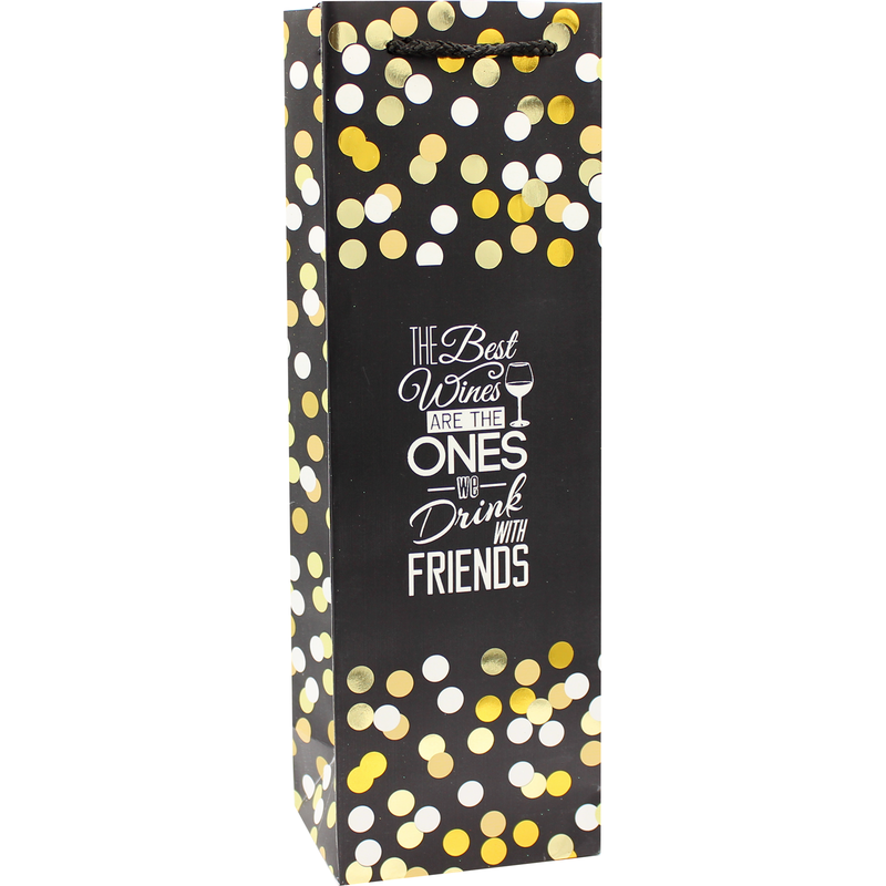 printed paper friends wine bag