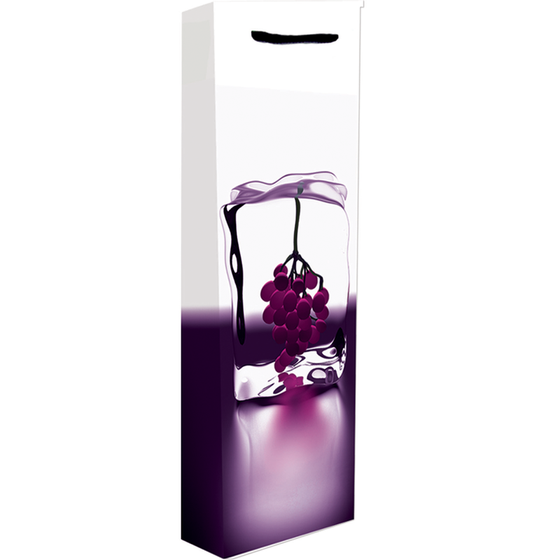 printed paper ice grape wine bag