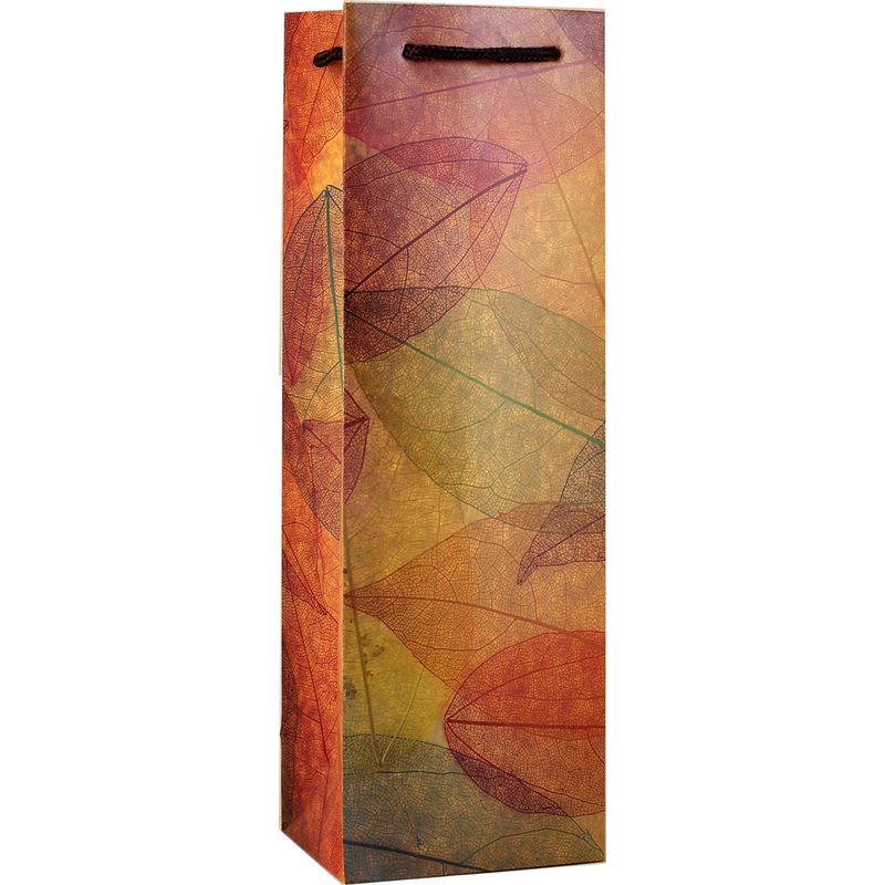 printed paper leaves wine bag