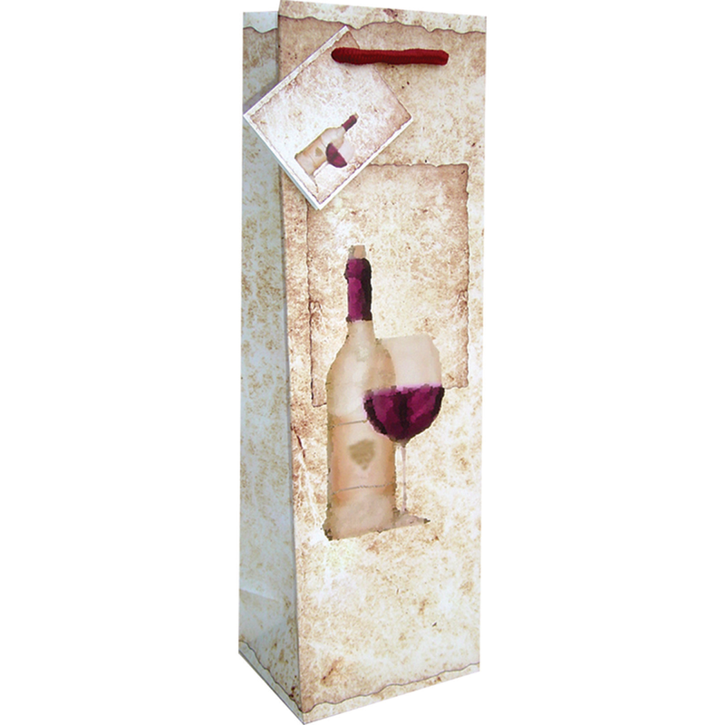 printed paper old world wine bag