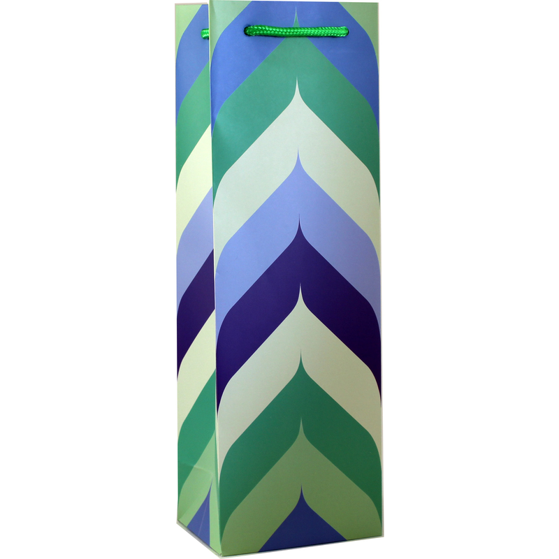 printed paper peak wine bag