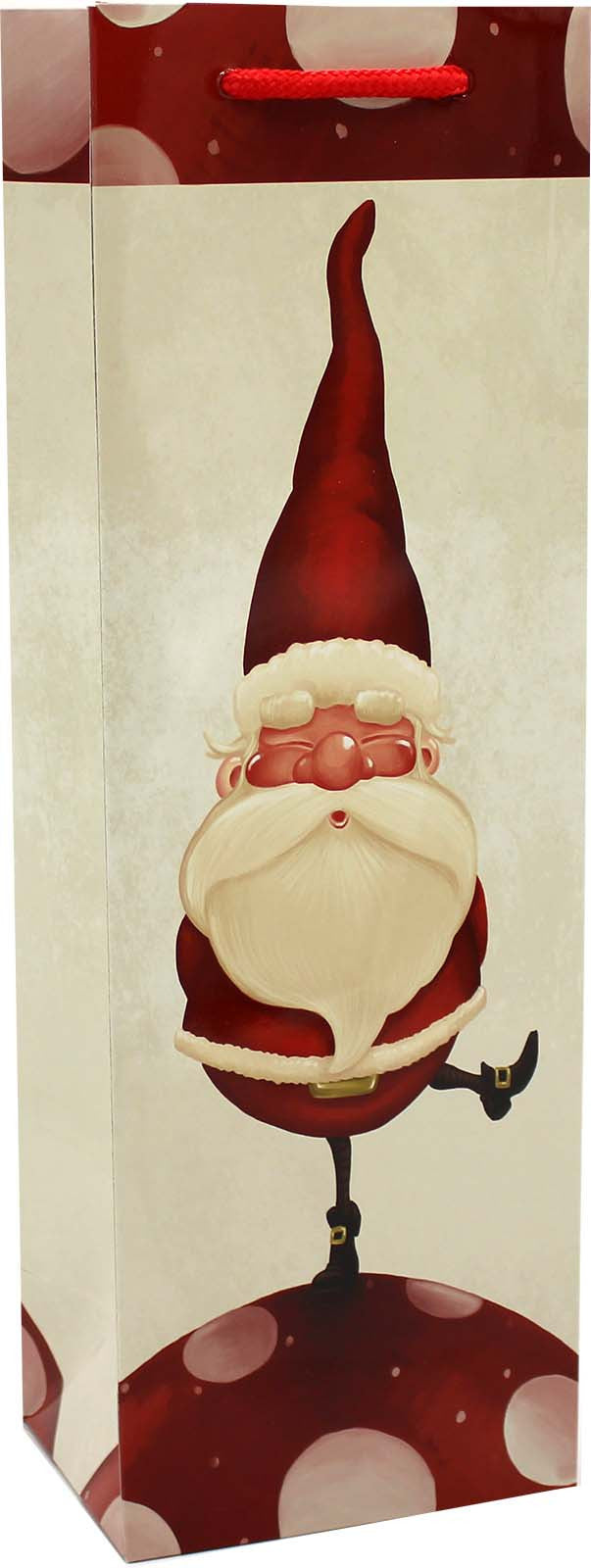 holiday printed paper santa rules wine bag