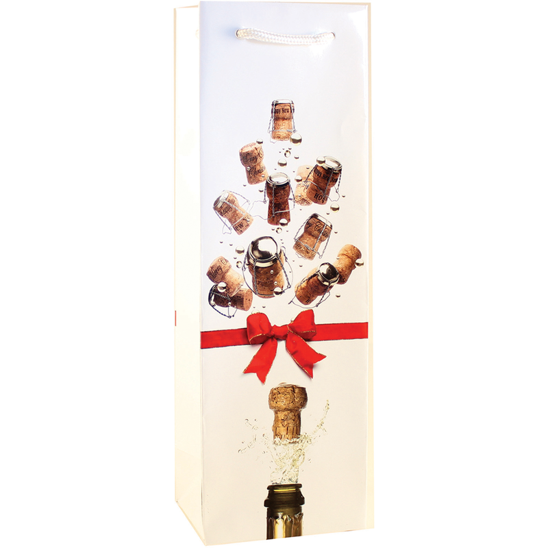 holiday champagne sparkling tree wine bottle bag