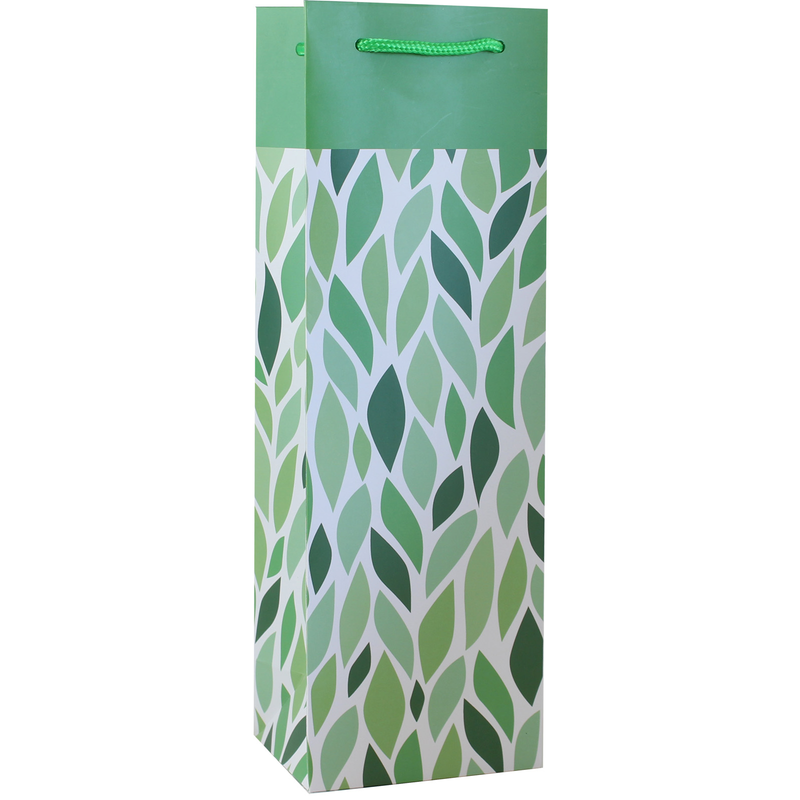 printed paper vine wine bag