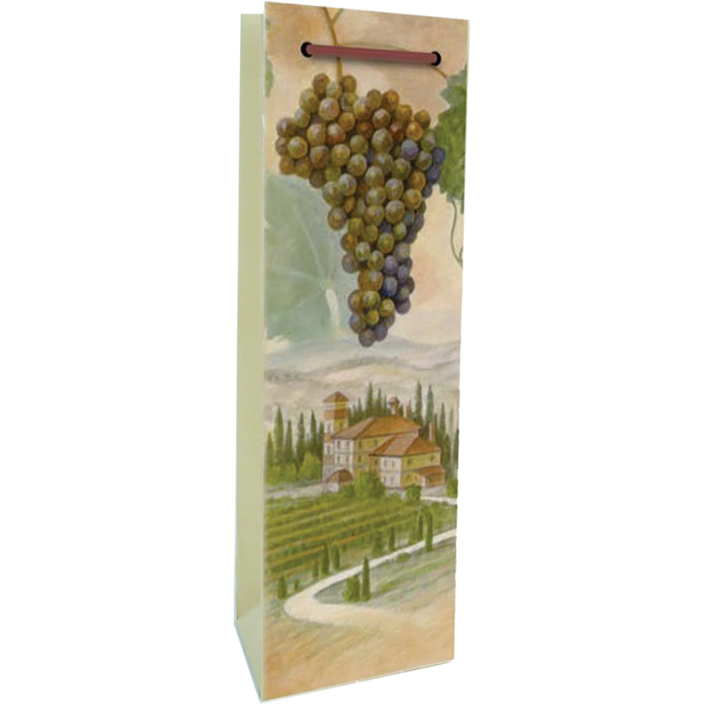 printed paper vineyard wine bag